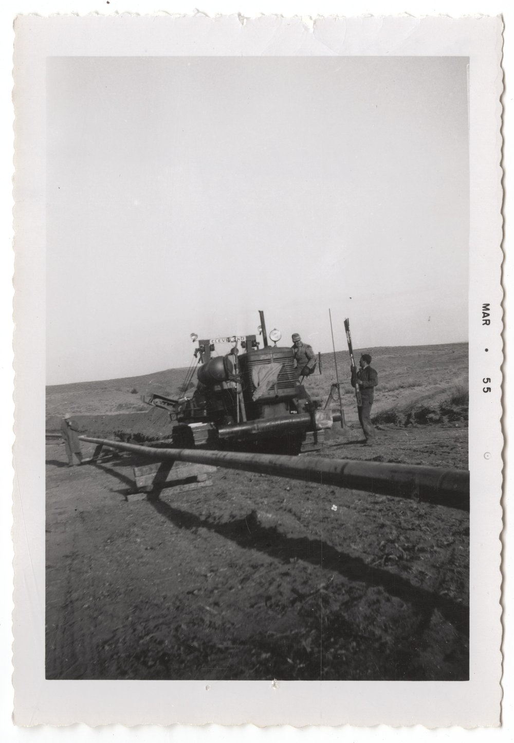A gas line on the Mahan-Tarr ranch in Barber County, Kansas - 1