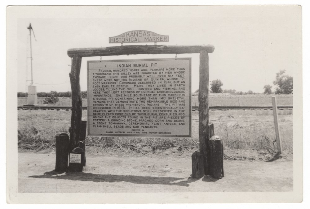 Historical marker, Indian burial pit, Saline County - 1