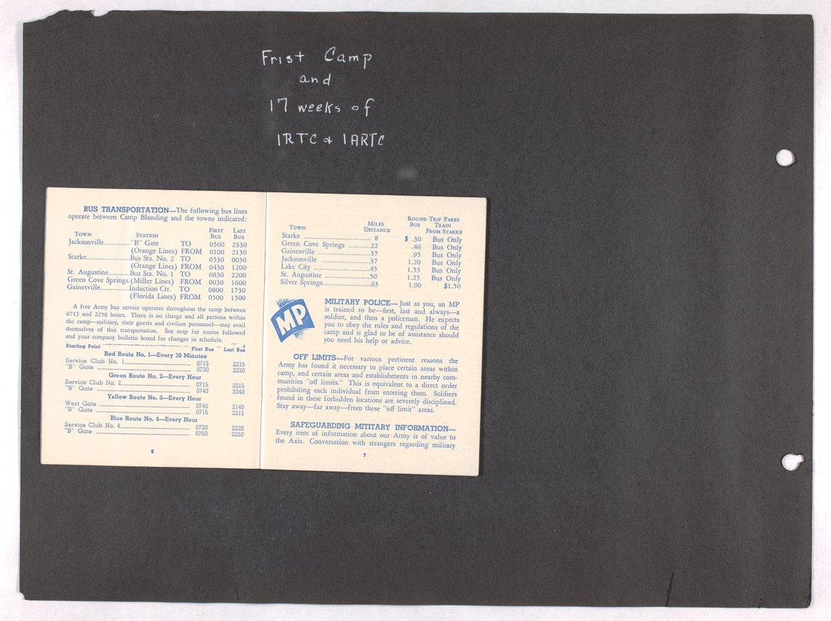 James Asbury Power, Jr.'s World War II photograph album - 6-7