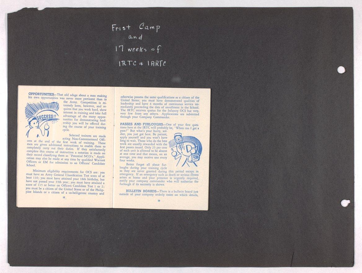 James Asbury Power, Jr.'s World War II photograph album - 12-13