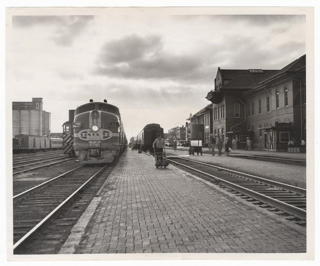 atchison topeka and santa fe railway company depot dodge city kansas kansas memory kansas historical society kansas historical society