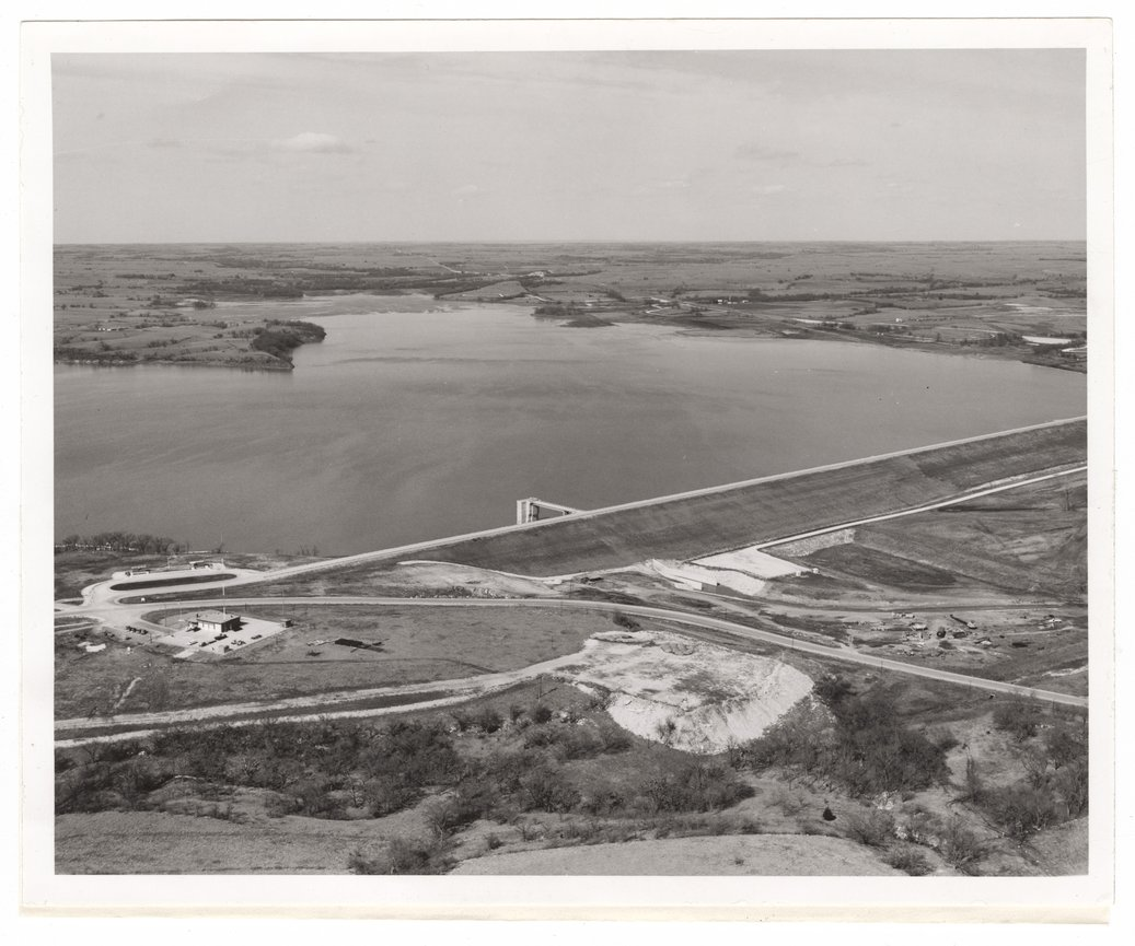 Aerial views of the Council Grove Dam and Reservoir - 3