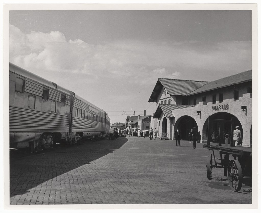 Atchison, Topeka and Santa Fe Railway Company's San Francisco Chief, Amarillo, Texas, - 1