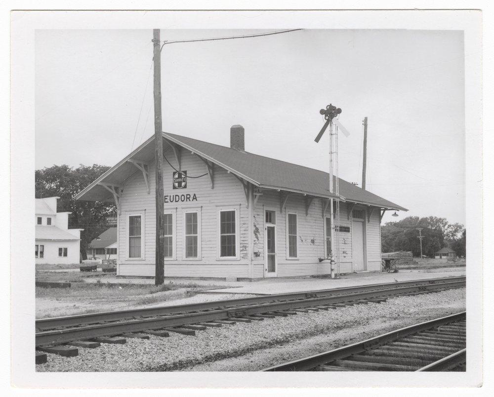 Atchison, Topeka and Santa Fe Railway Company depot, Eudora, Kansas - 1