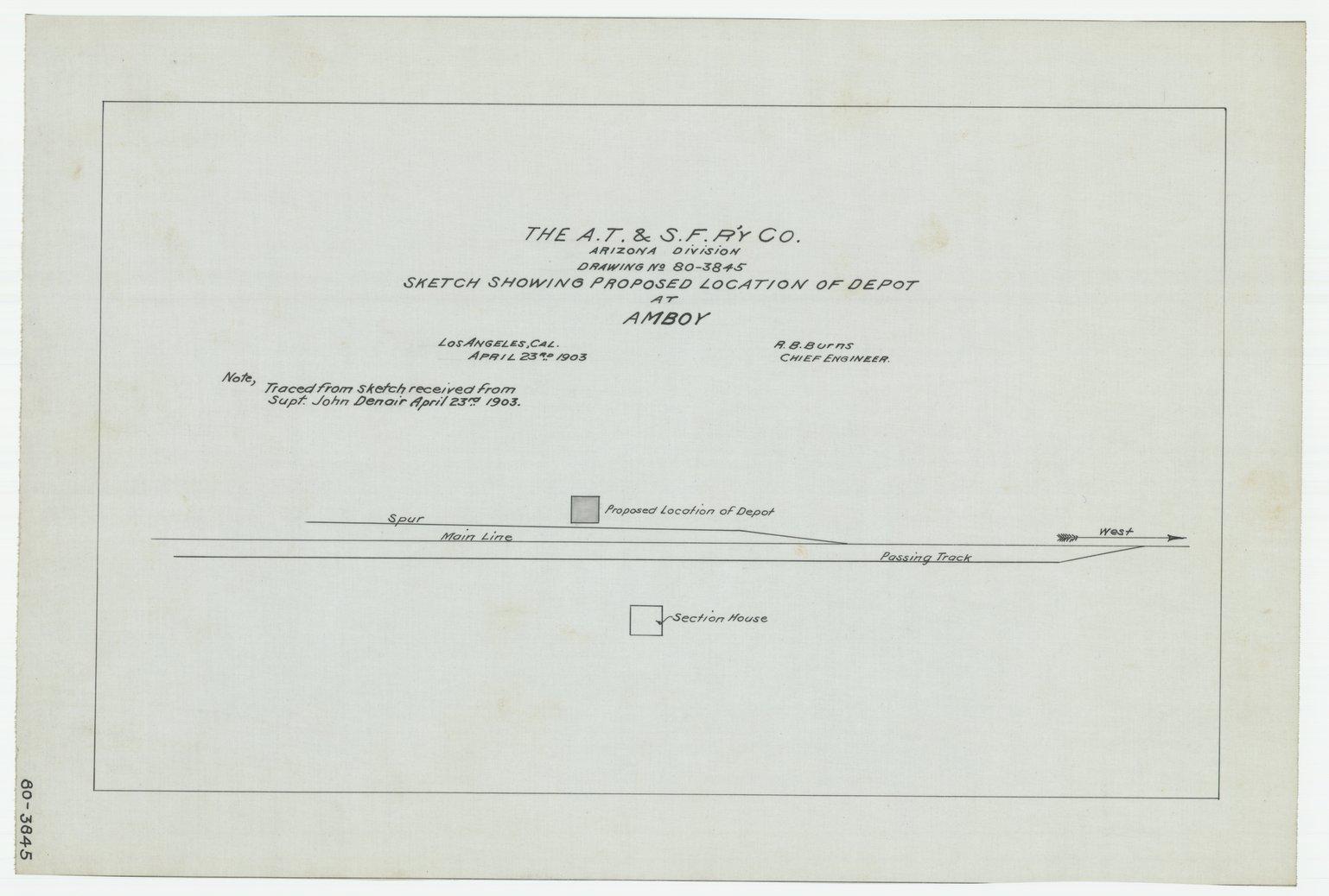 AT&SF proposed depot, Amboy, Arizona