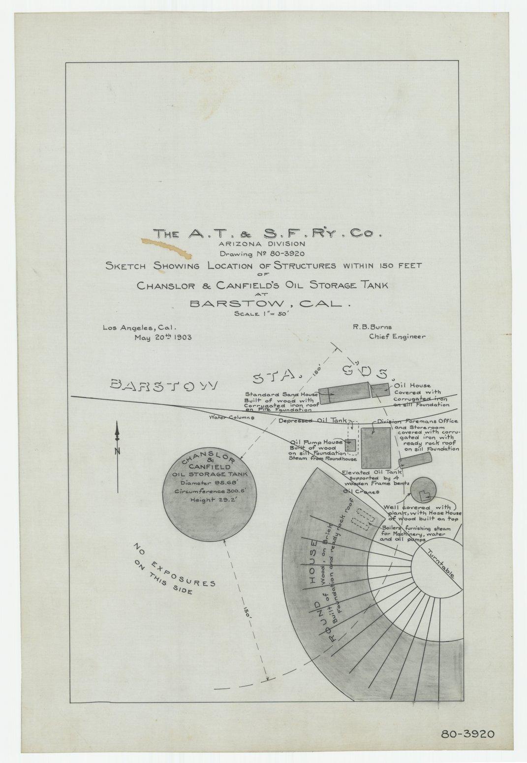 AT&SF oil storage tanks, Barstow, Bagdad & Needles, California - 1