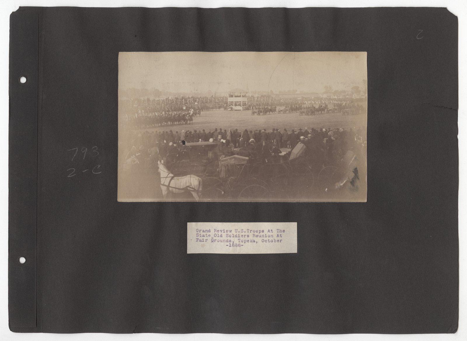 Kansas Free Fair album - October, 1888