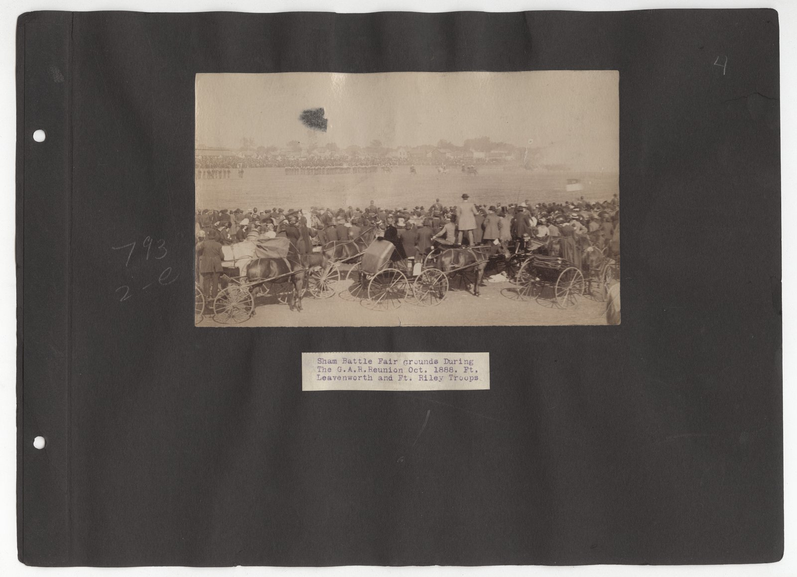Kansas Free Fair album - October, 1888