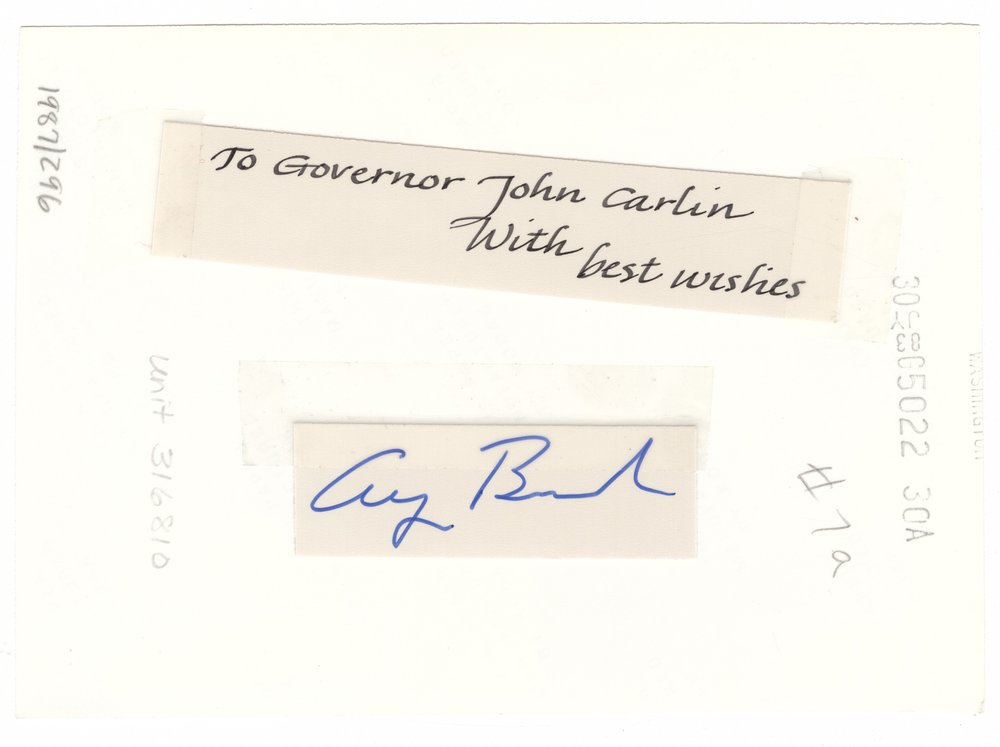 Governor John William Carlin and Vice President George H. W. Bush - 2