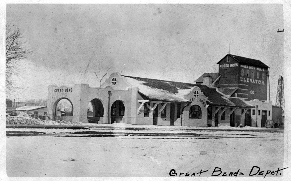 Atchison, Topeka and Santa Fe Railway Company depot, Great Bend, Kansas