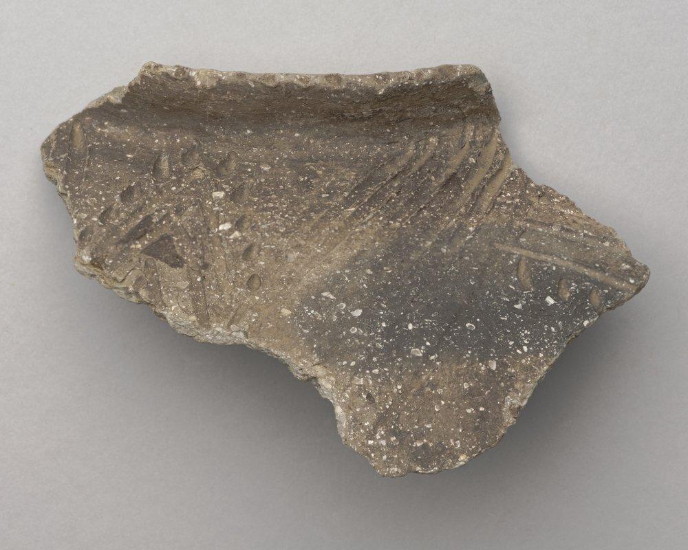 Decorated Ceramic Rim Sherd from the Wullschleger Site, 14MH301 - 3