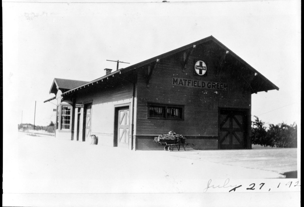 Atchison, Topeka and Santa Fe Railway Company depot, Matfield Green, Kansas