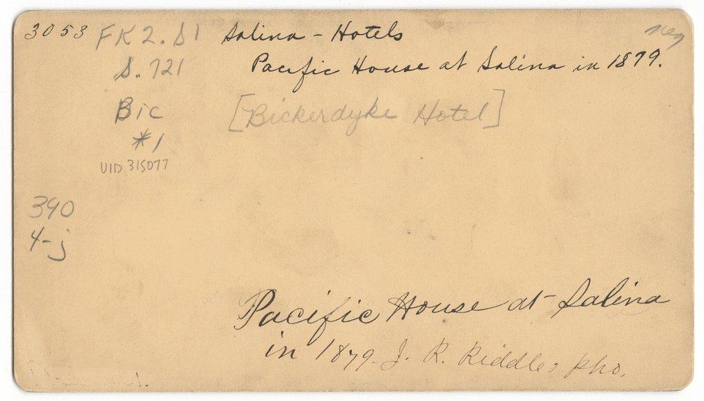 Bickerdyke Hotel (Pacific House) in Salina, Kansas - 2