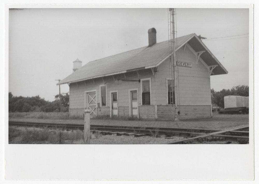 St. Louis, San Fracisco and Atchison, Topeka and Santa Fe Railway Company depot, Severy, Kansas - 1
