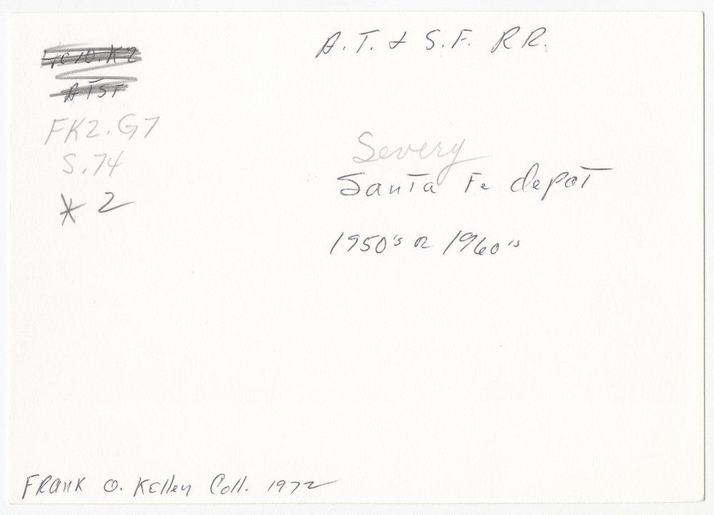 St. Louis, San Fracisco and Atchison, Topeka and Santa Fe Railway Company depot, Severy, Kansas - 2