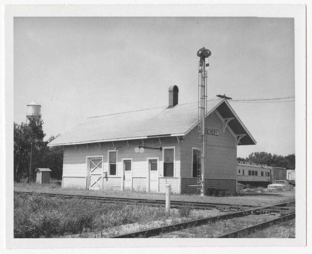 St. Louis, San Francisco and Atchison, Topeka and Santa Fe Railway Company depot, Severy, Kansas - 1