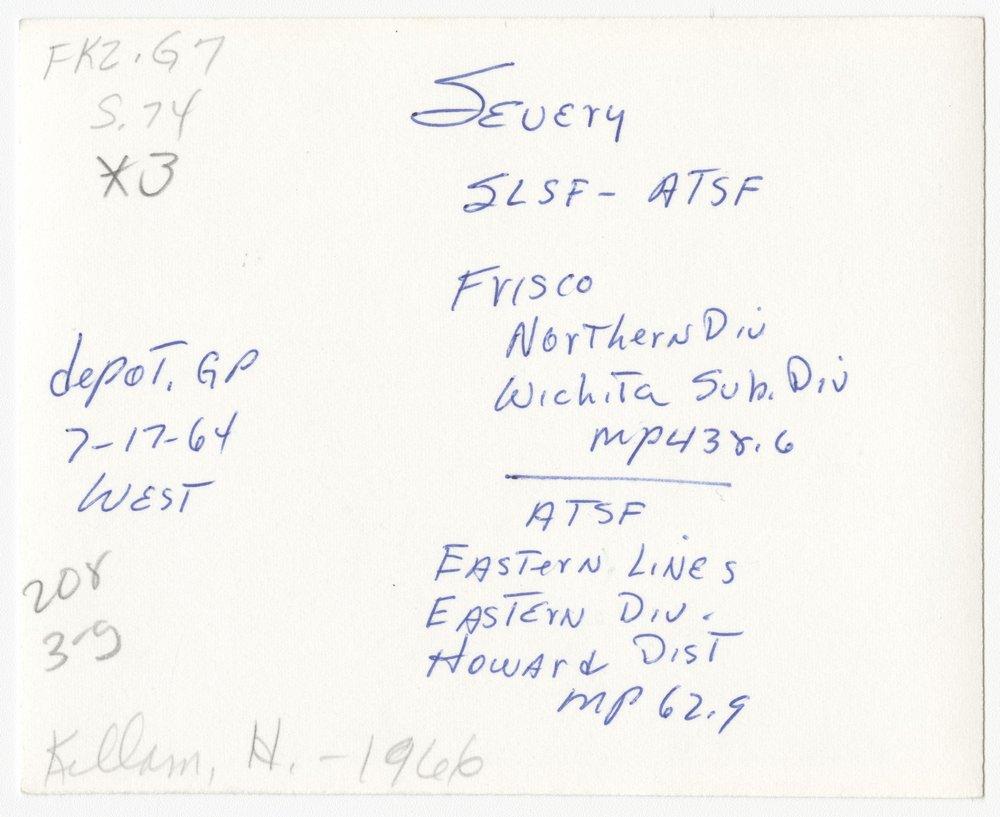 St. Louis, San Francisco and Atchison, Topeka and Santa Fe Railway Company depot, Severy, Kansas - 2