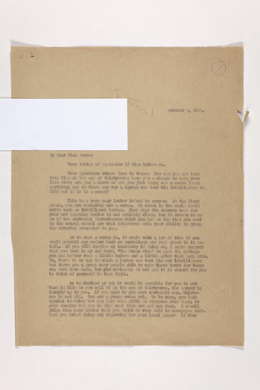 Dr. Karl Menninger Ladies Home Journal Letters 1-20 - 1