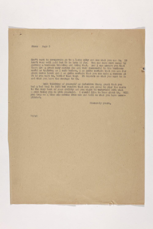 Dr. Karl Menninger Ladies Home Journal Letters 1-20 - 2