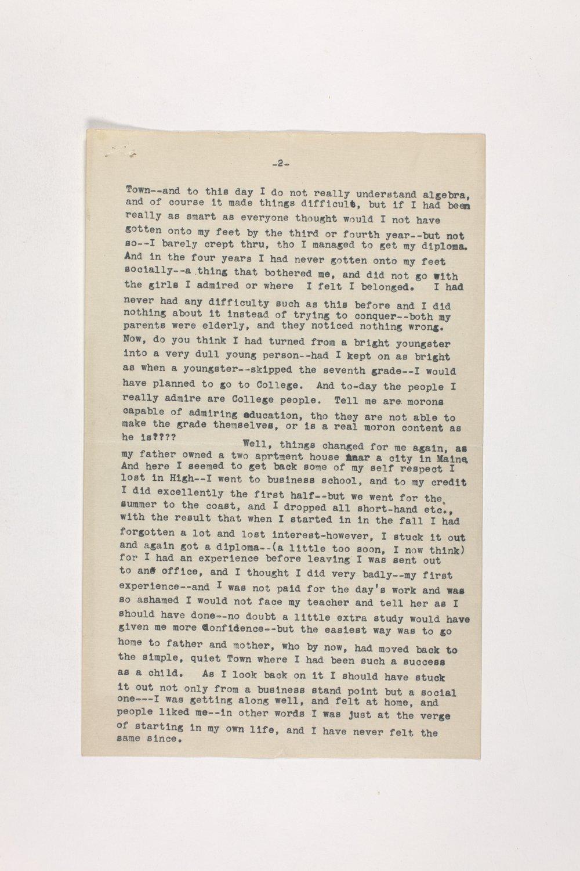Dr. Karl Menninger Ladies Home Journal Letters 1-20 - 5