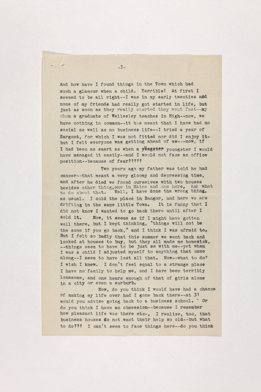 Dr. Karl Menninger Ladies Home Journal Letters 1-20 - 6