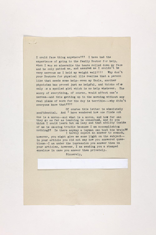 Dr. Karl Menninger Ladies Home Journal Letters 1-20 - 7