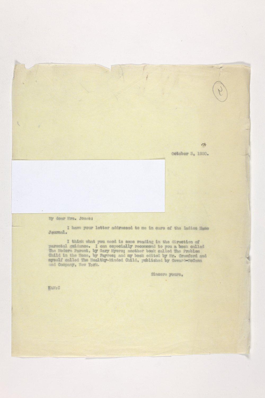 Dr. Karl Menninger Ladies Home Journal Letters 1-20 - 9