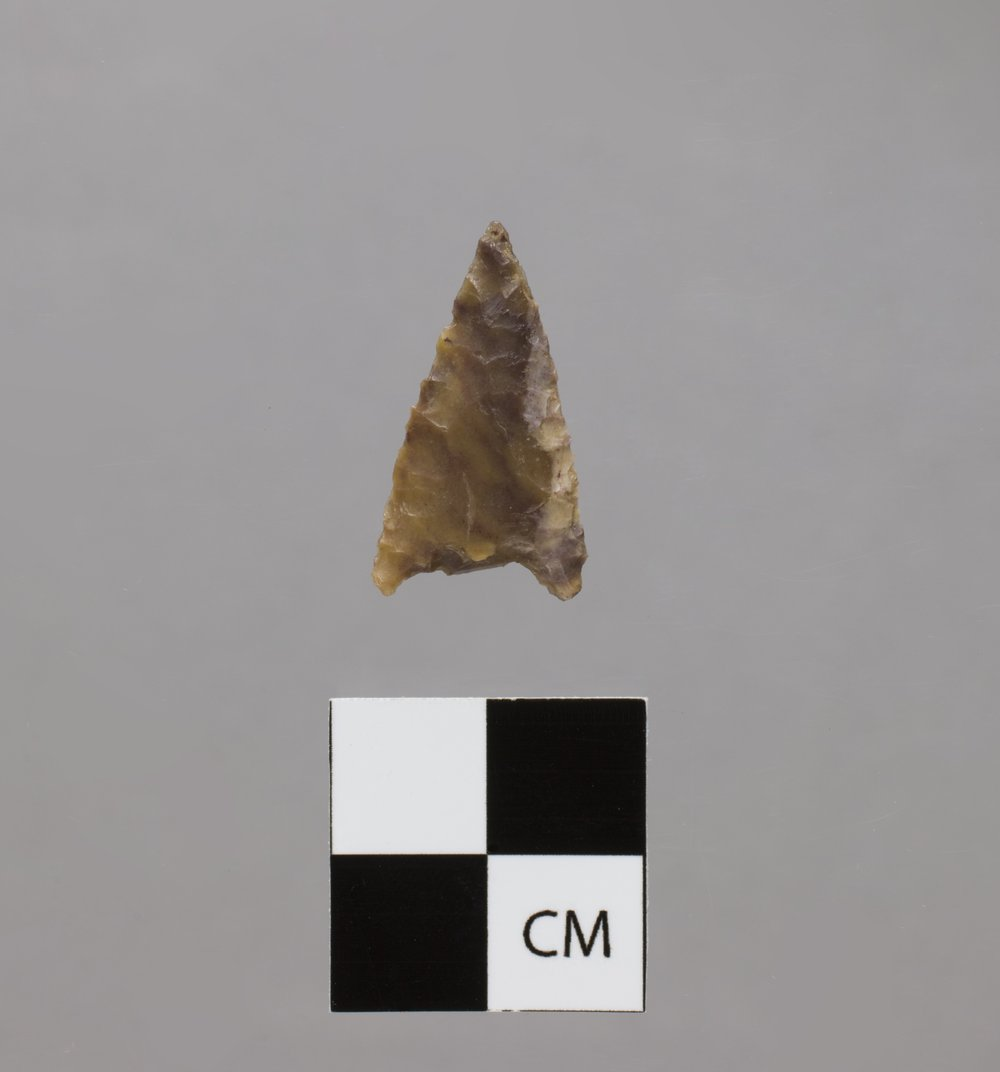 Corner-Notched Arrow Point from the Two Snake Hoyt Hill Site, 14RW422 - 2