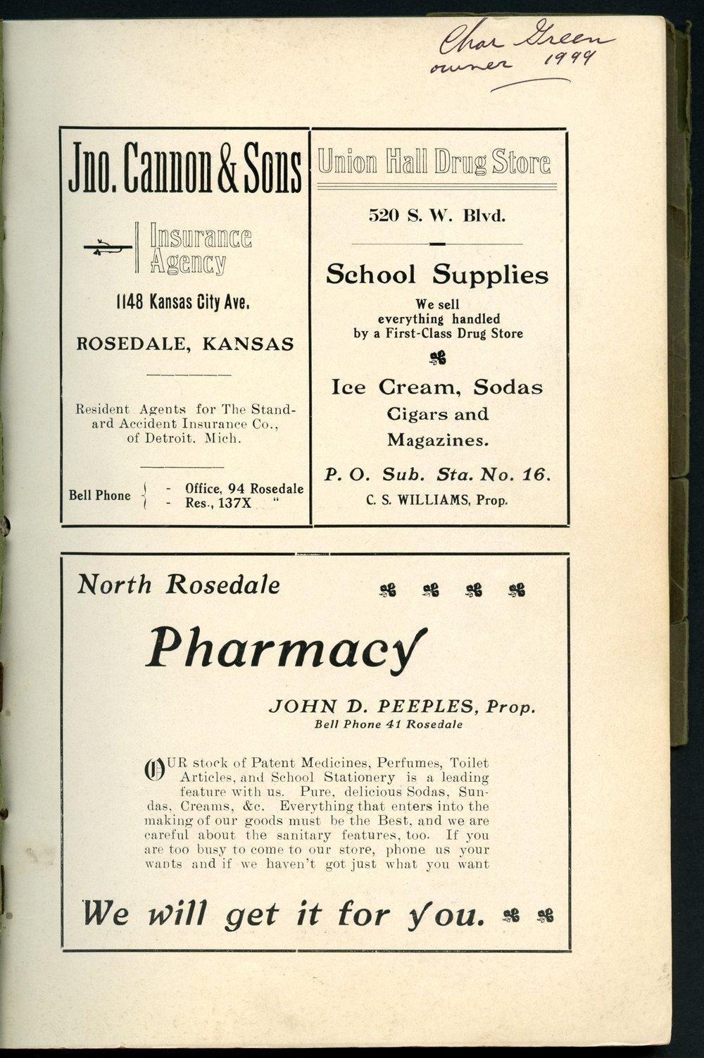 Mount Marty yearbook, 1910, Rosedale, Kansas - 1