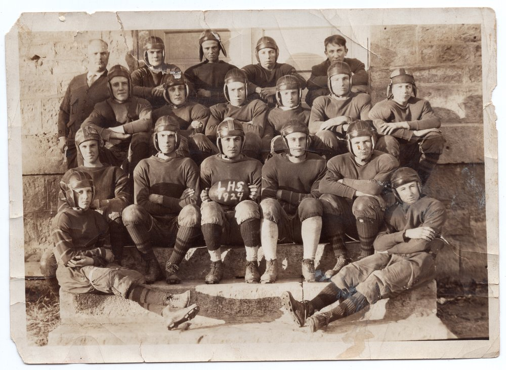 1924 Lecompton High School Football Team, Lecompton, Kansas - front