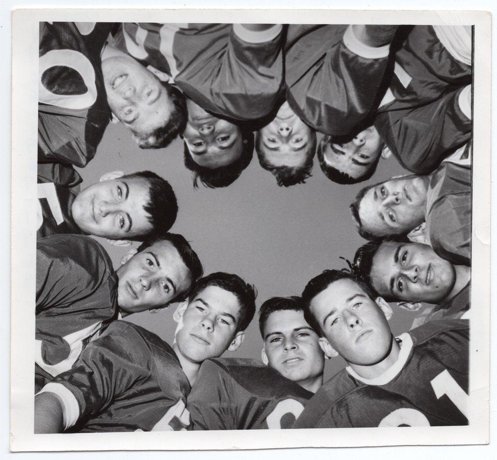 1966-1967 Lecompton Rural High School Football Team, Lecompton, Kansas - front