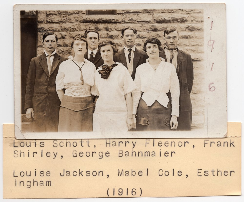 Lecompton High School Senior Class of 1916, Lecompton, Kansas - front