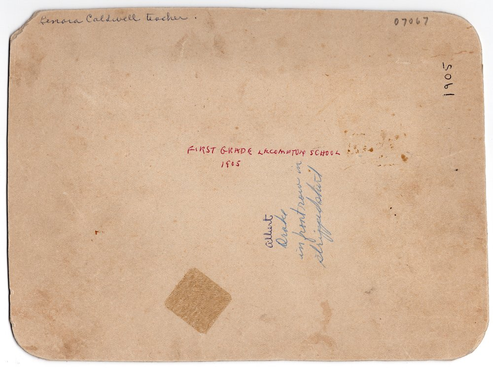 1905 Lecompton First Grade, Lecompton, Kansas - back