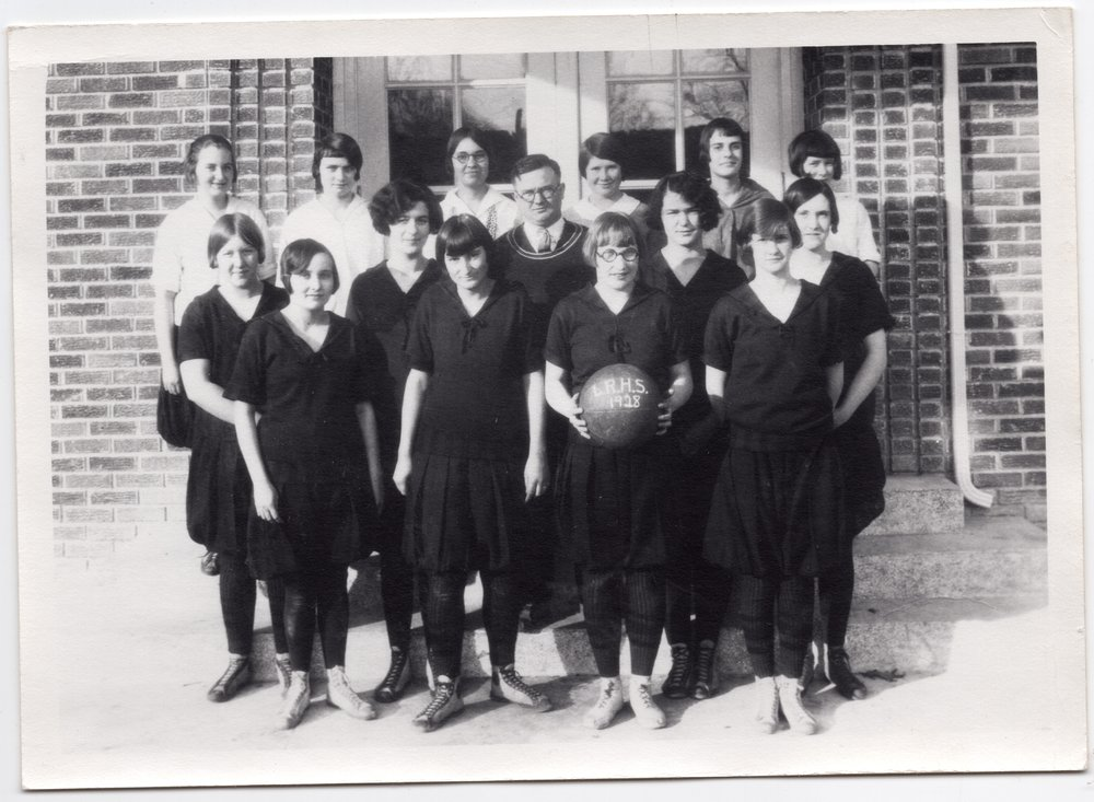 1928 Lecompton High School Girls Basketball team, Lecompton, Kansas - front