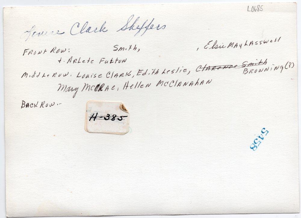 1928 Lecompton High School Girls Basketball team, Lecompton, Kansas - back
