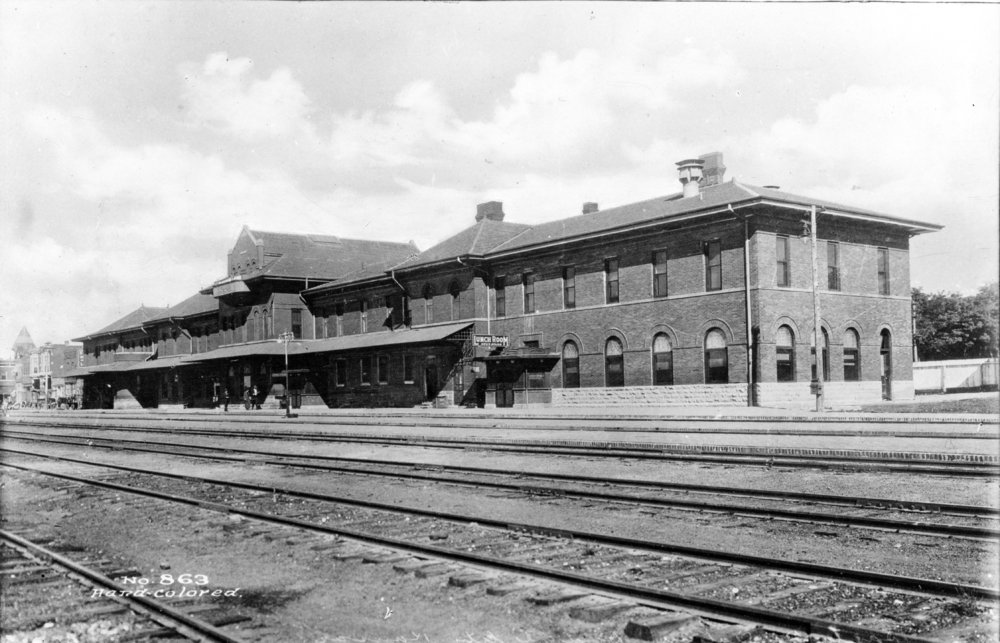 Atchison Topeka and Santa Fe Railway Compay depot and Fred Harvey House, Dodge City, Kansas