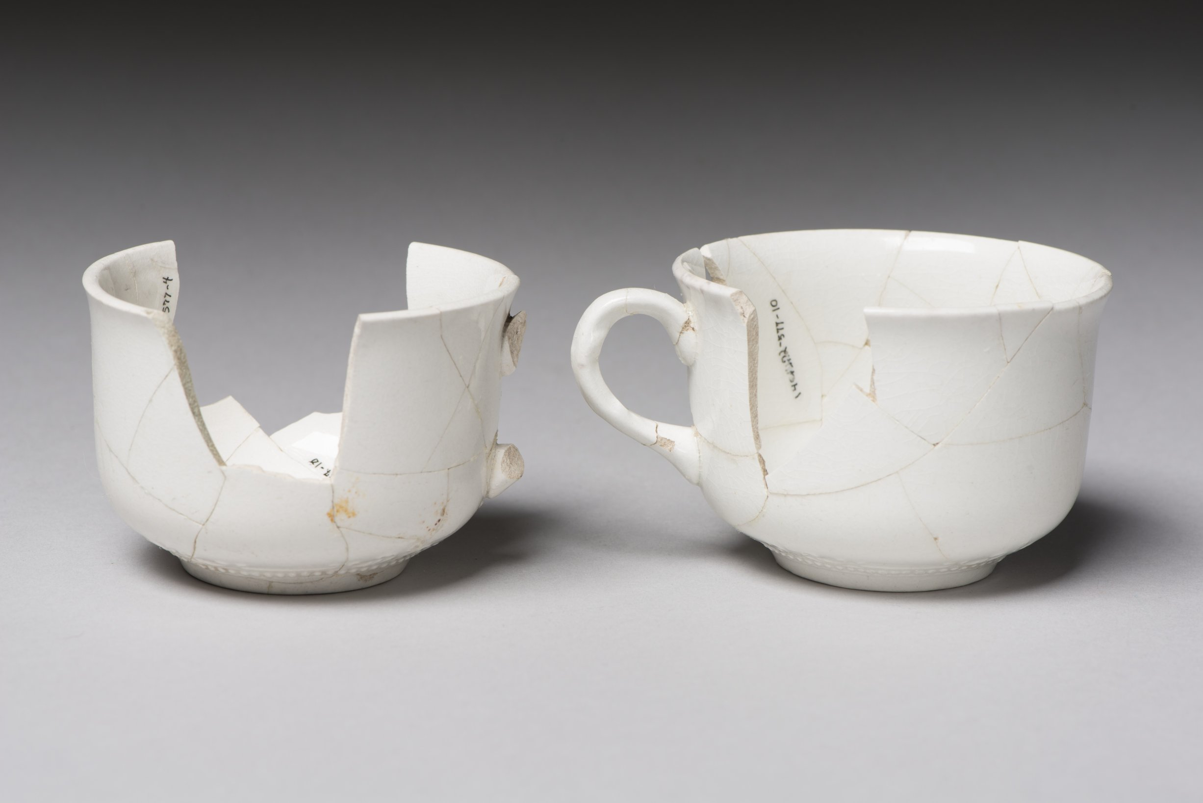 Coffee Cups from the Thomas Johnson/Henry Williams Dugout Site, 14GH102 - 2