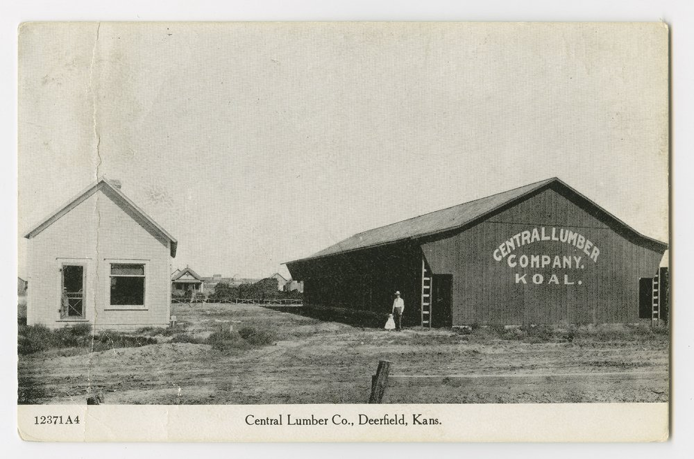 Buildings of the Central Lumber Company, Deerfield, Kearny County, Kansas - 1