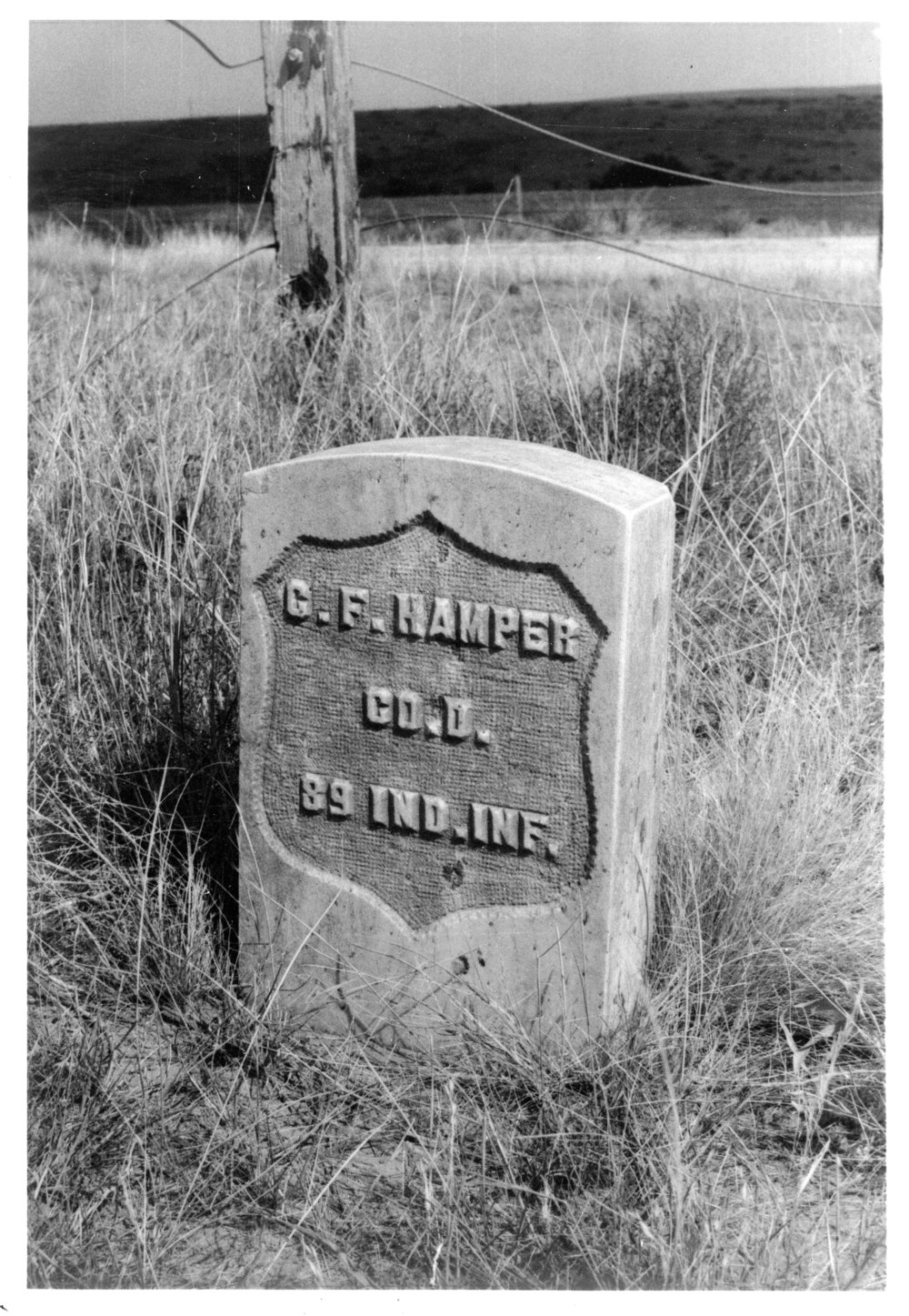 Grave marker of Christian F. Hamper, Rawlins County, Kansas - 2