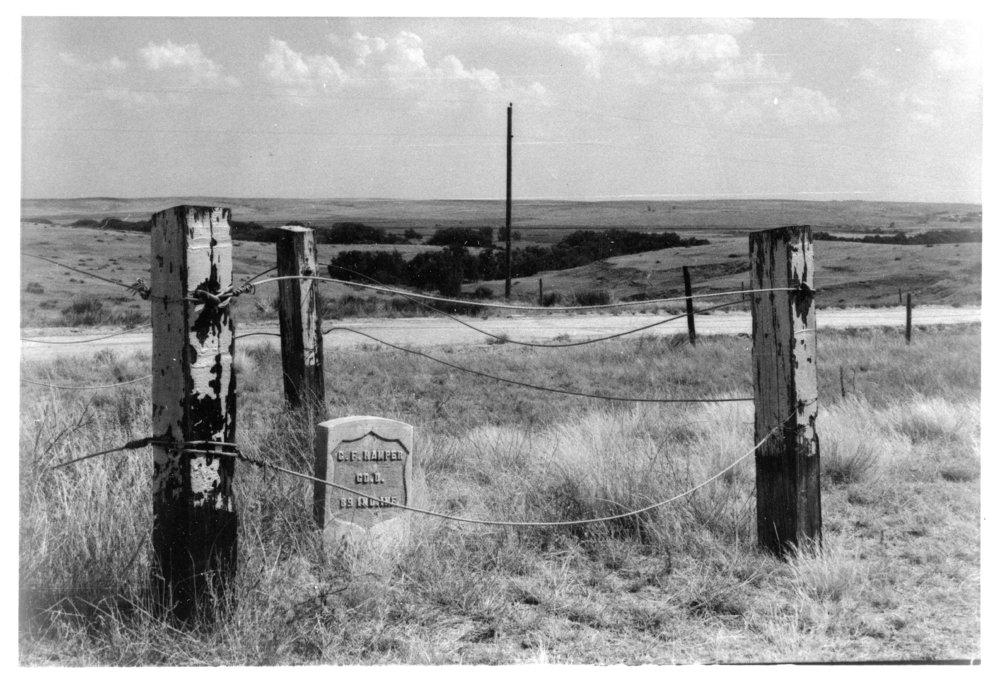 Grave marker of Christian F. Hamper, Rawlins County, Kansas - 6