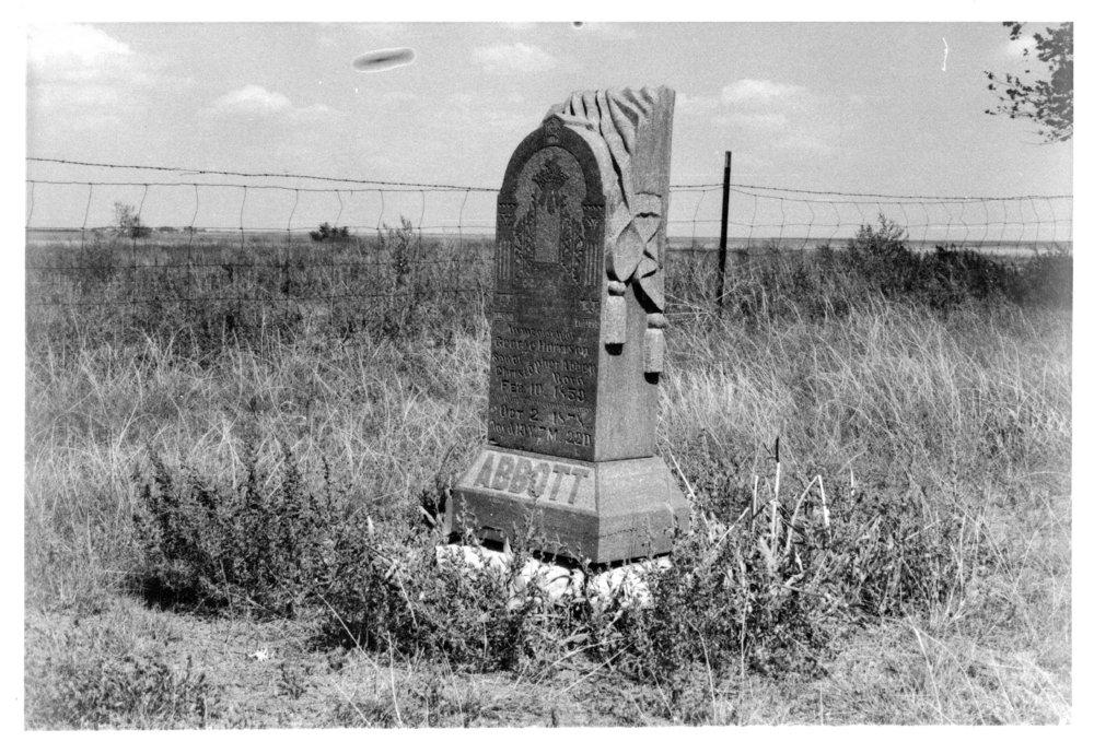 Grave of George Harrison Abbott, Union Cemetery, Herndon, Kansas - 2