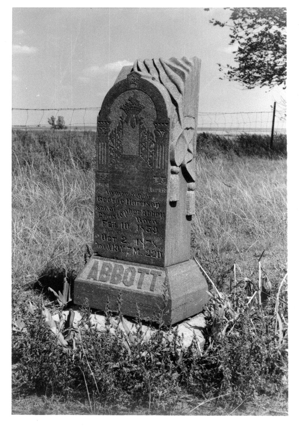 Grave of George Harrison Abbott, Union Cemetery, Herndon, Kansas - 4