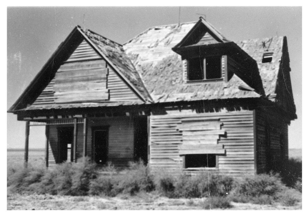 Abandoned house, Lane County, Kansas