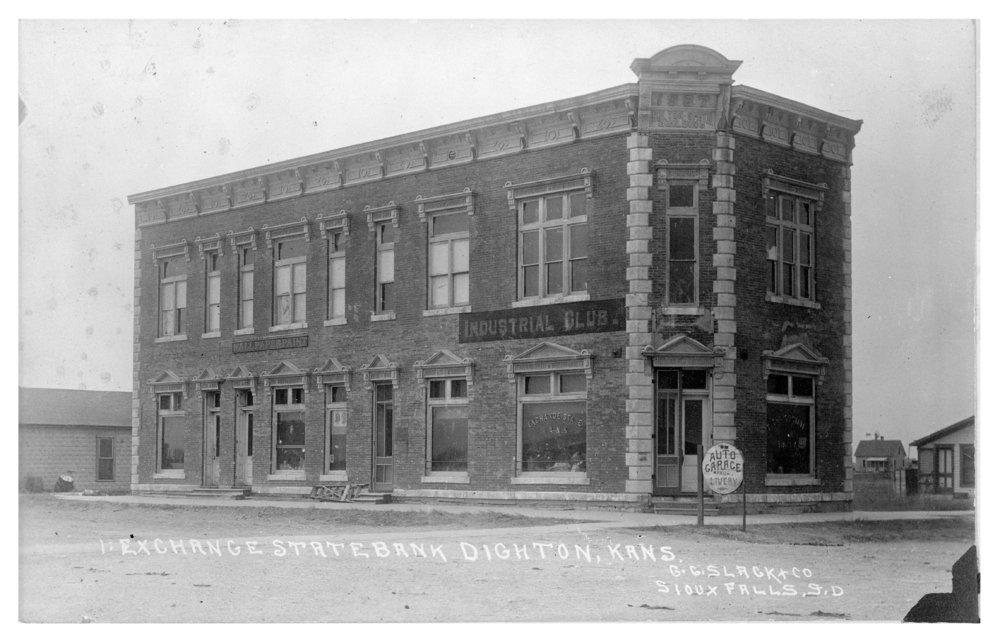 Exchange State Bank building, Dighton, Lane County, Kansas
