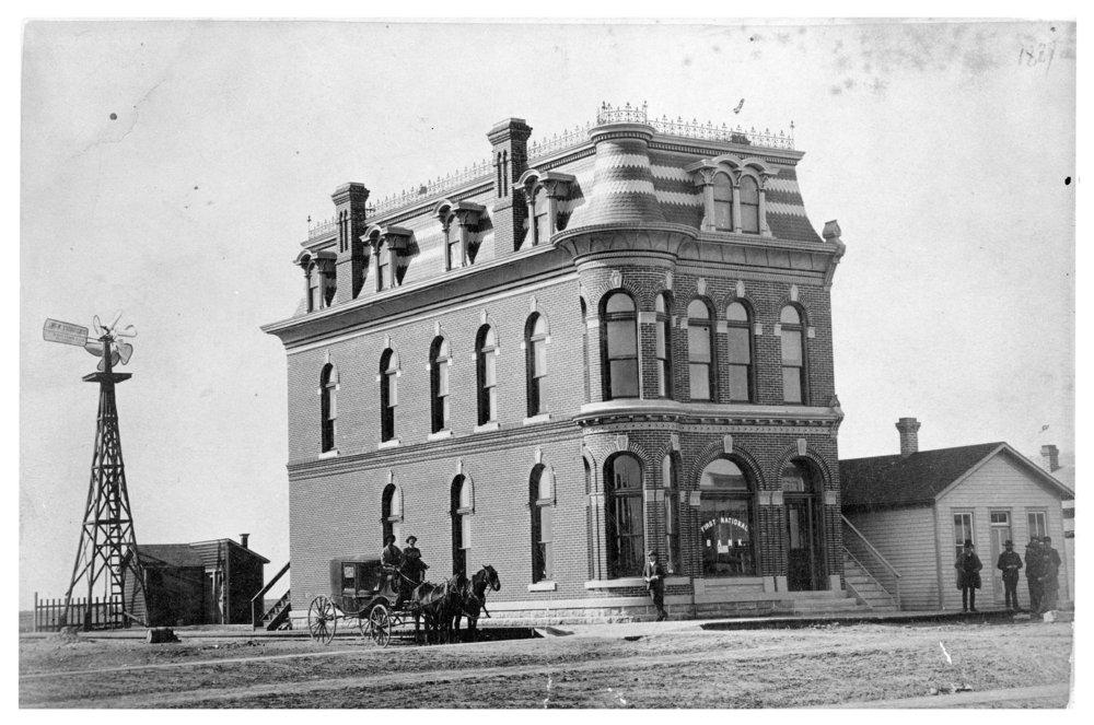 First National Bank building, Dighton, Lane County, Kansas - 4