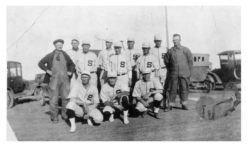 Baseball team, Shields, Lane County, Kansas
