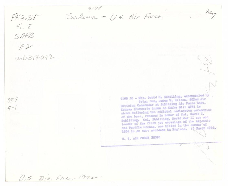 Dedication, Schilling Air Force Base, Salina, Kansas - 2