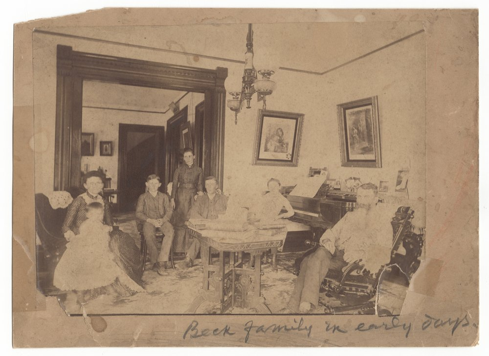 Moses Milton and Mary Beck's family in Holton, Kansas - 1