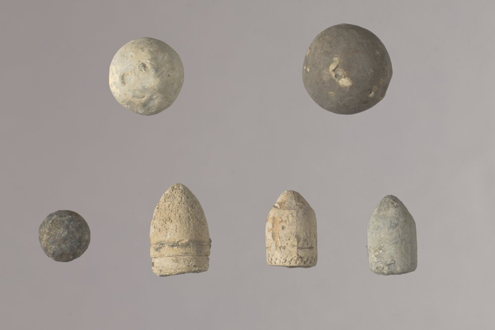 Bullets and Balls from the Mine Creek Civil War Battlefield, 14LN337 - 1