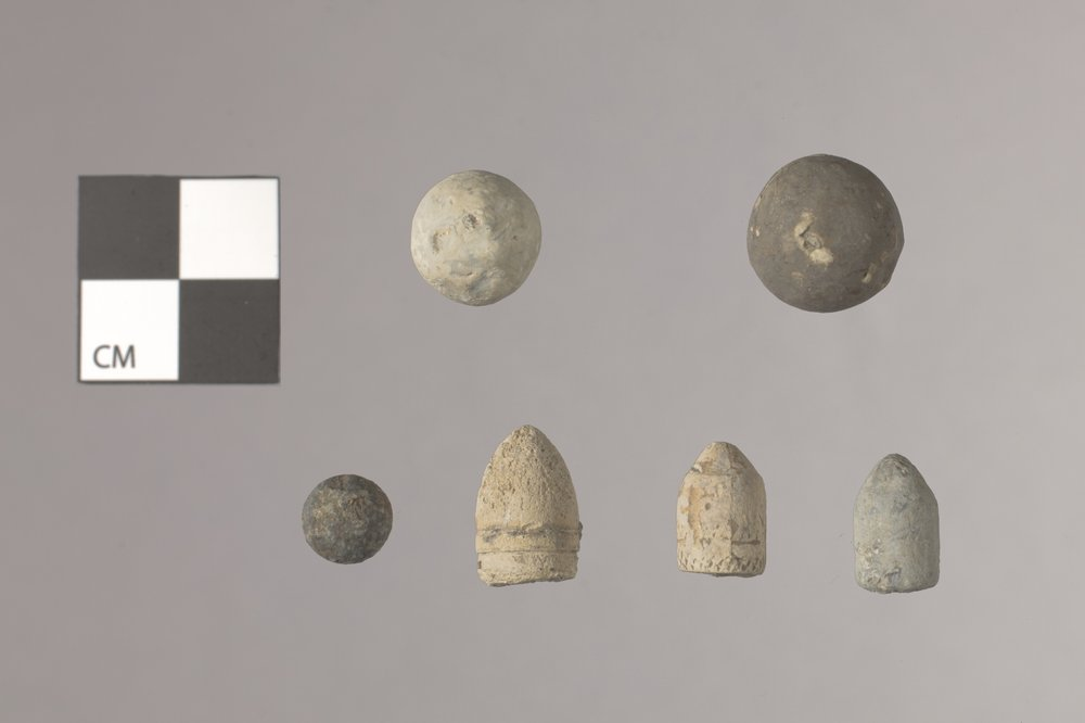 Bullets and Balls from the Mine Creek Civil War Battlefield, 14LN337 - 2